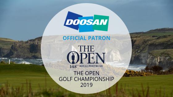 Doosan Sponsor The Open Championship 2019 Water Mota